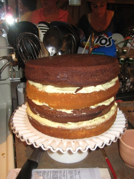 recipe: chocolate pudding filling for cake [25]